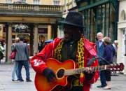 Уличные актеры, музыканты, мимы