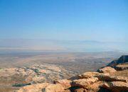 Вид с горы на Мертвое море